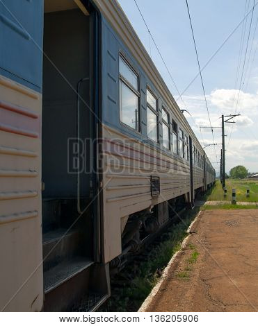 a train doors. A close up a