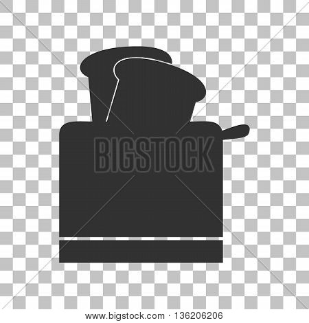 Toaster simple sign. Dark gray icon on transparent background.