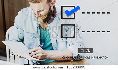 Checklist Schedule To Do Evaluation Concept