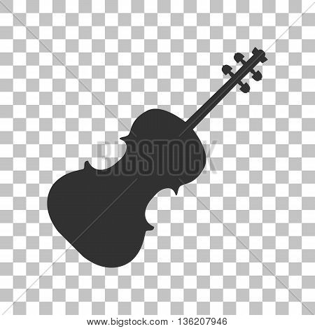 Violine sign illustration. Dark gray icon on transparent background.