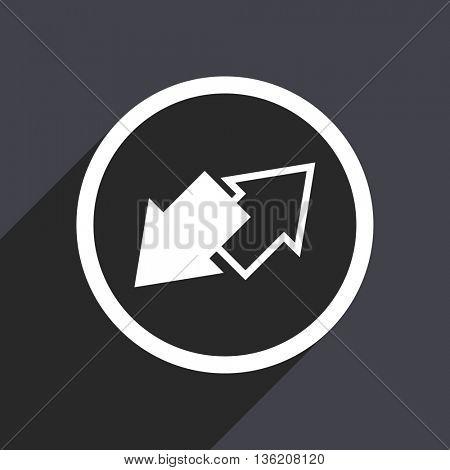 Flat design gray web exchange vector icon