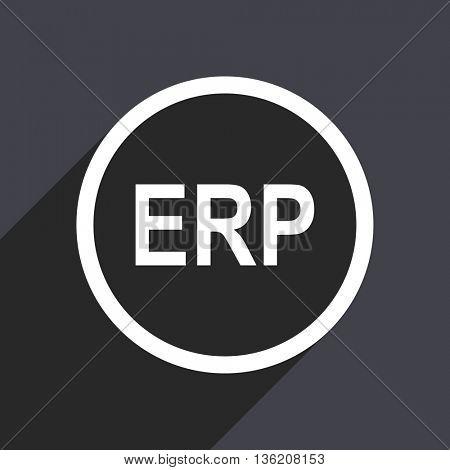 Flat design gray web erp vector icon