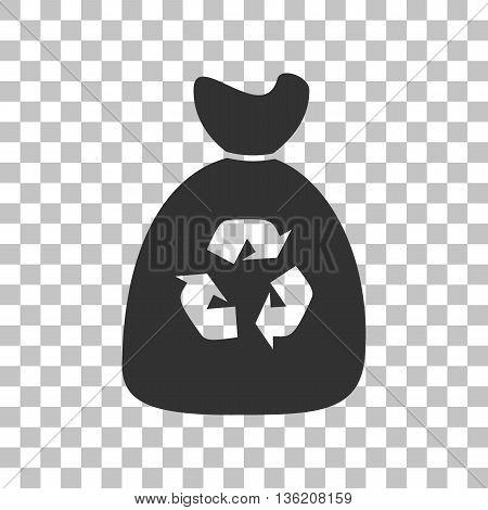 Trash bag icon. Dark gray icon on transparent background.
