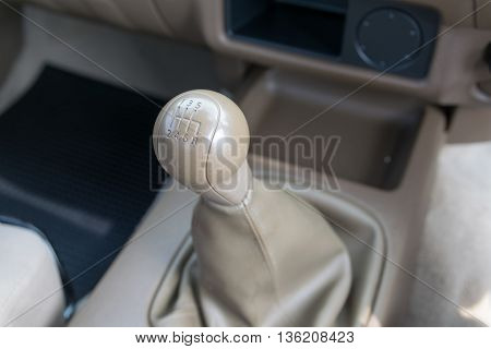 Car interior. manual transmission gear shift. interior, car,