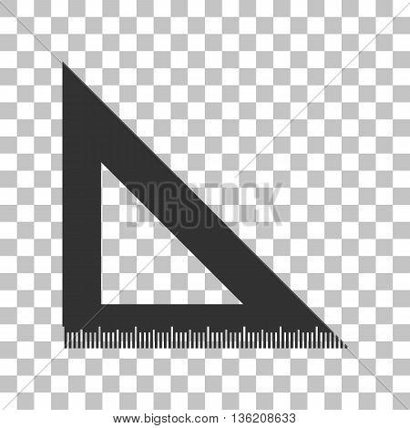 Ruler sign illustration. Dark gray icon on transparent background.