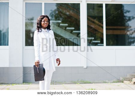 Happy Black African American Girl With Hats Graduates At Hand