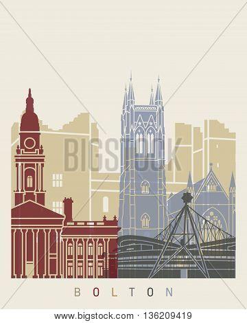 Bolton Skyline Poster