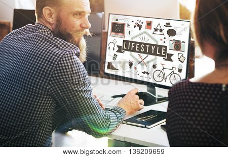 Lifestyle Hobbies Media Technology Concept