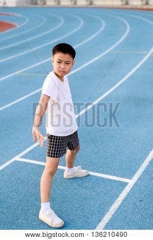 Running Boy Prepare To Start