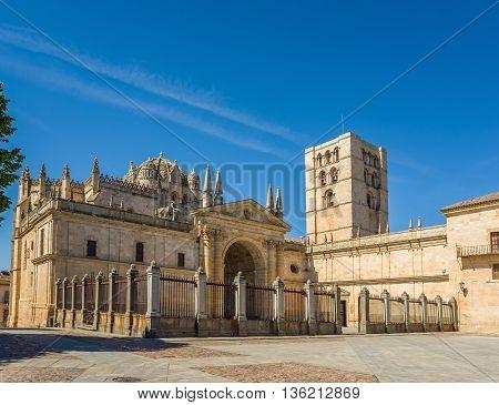 San Salvador Cathedral In Zamora, Castilla Y Leon. Spain.