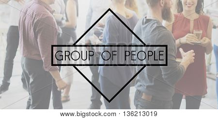 Group of People Community Society Corporate Teamwork Concept
