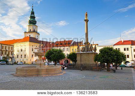 KROMERIZ, CZECH REPUBLIC - JUNE 21, 2016: Bishop's Palace in the main square of Kromeriz city in Moravia on June 21, 2016.