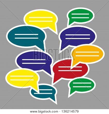 blank speech bubbles for text. Text messaging flat design concept. Eps 10 vector illustration