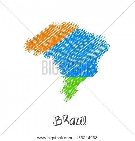 Brazil map design background easy all editable