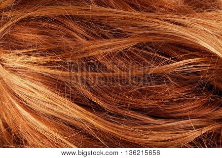 hair background texture closeup detail curl, brown, shiny