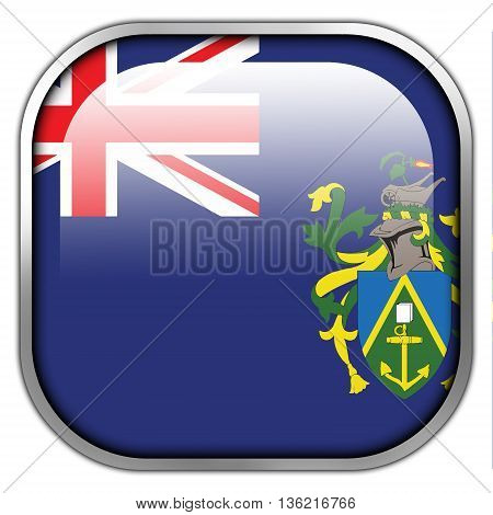 Flag Of Pitcairn Islands, Square Glossy Button