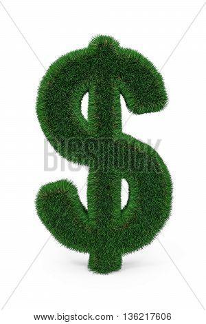 Green Grass Dollar Sign.