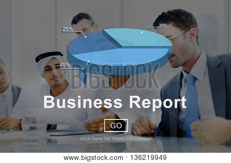 Business Report Analytics Analysis Statistics Concept