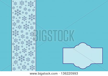 Christmas Background. Elegant Illustration in blue tones.