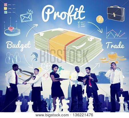 Profit Gain Gross Income Benefit Money Revenue Concept