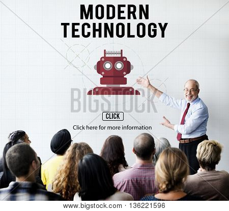 Modern Technology Data Digital Innovation Concept