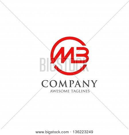 creative  letter MB circle logo vector, MB letter icon
