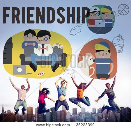 Friendship Friends Relationship Hobby Concept