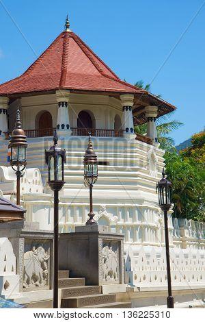 The old tower Octagon, Royal Palace of sity Kandy. Sri Lanka
