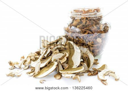 Dried Chanterelle And Boletus Mushrooms