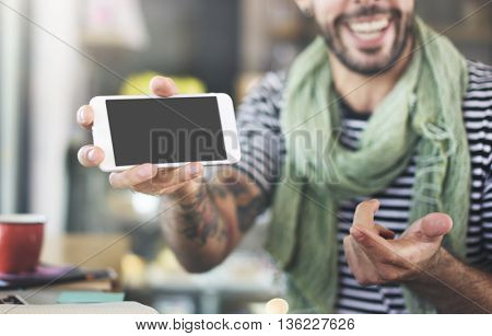 Searching Social Media Mobile Phone Concept
