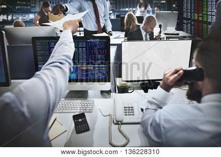 Stock Exchange Market Concept