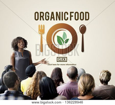 Organic Food Healthy Nutritious Green Nourishment Concept