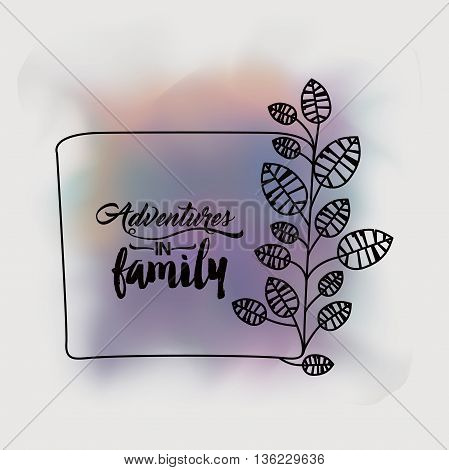 adventures in family design, vector illustration eps10 graphic