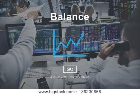 Balance Funds Financial Graph Interface Concept