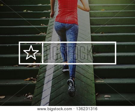 Fitness Healthy Lifestyle Frame Graphic Concept