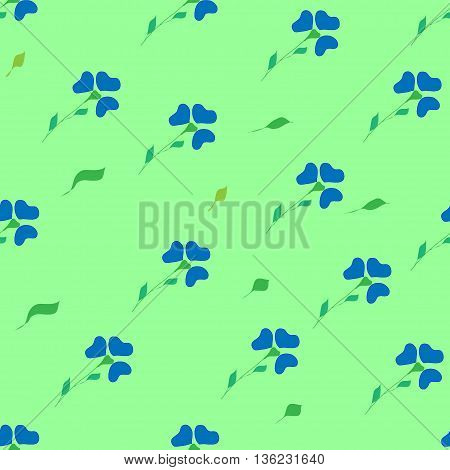 Flower blue seamless pattern. Fashion graphic background design. Modern stylish abstract texture. Colorful template for prints textiles wrapping wallpaper website etc. VECTOR illustration