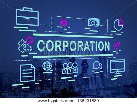Corporation Company Corporate Enterprise Group Concept