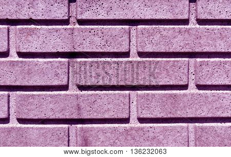 Purple Stylized Brick Wall Texture.