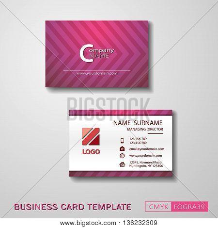 Vcard business card set play pink. Vector EPS10 - CMYK : FOGRA39