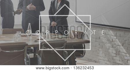 Corporate Business Enterprise Organization Concept