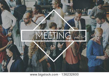 Meeting Business Plan Creation Ideas Concept