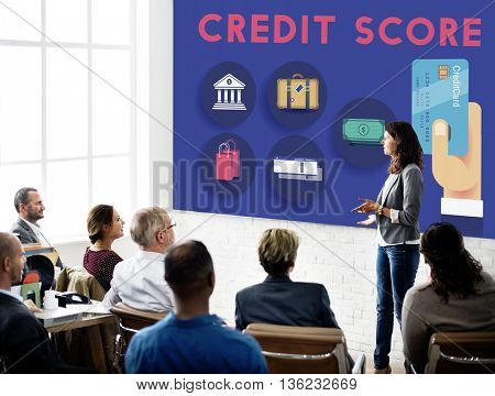 Credit Score Cash Flow Finance Concept