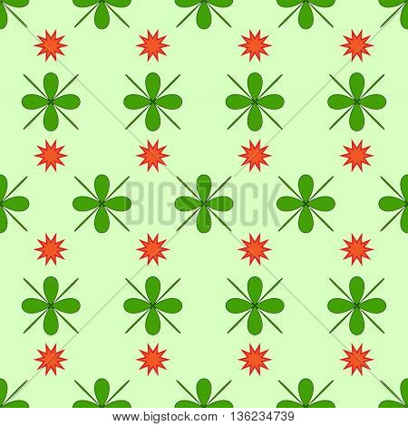 Star and flower seamless pattern. Fashion graphic background design. Modern stylish abstract texture. Colorful template for prints textiles wrapping wallpaper website etc. VECTOR illustration.