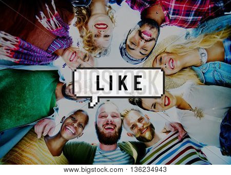 Like Community Online Social Network Concept