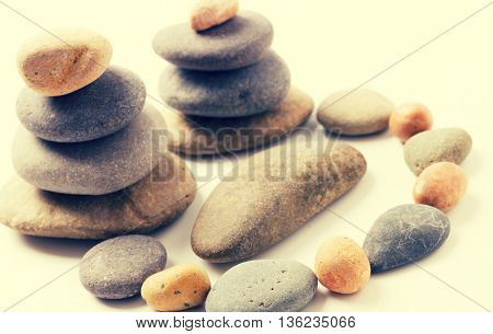 composition of the stones pebbles. Toned photo