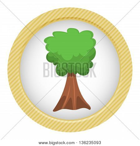 Single Tree Vector Colorful Icon