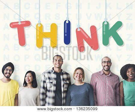 Think Thoughtful Visionary Creative Determination Concept