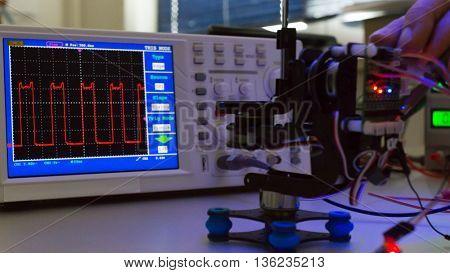 Repair electronics device. Toned image