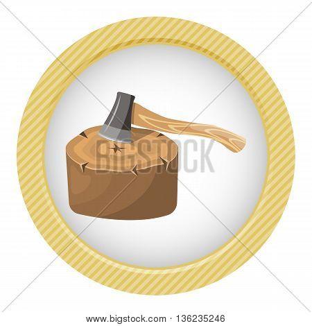 Stump Colorful Icon