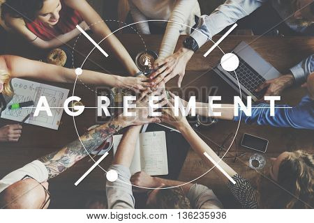 Agreement Contract Negotiation Communication Connection Concept